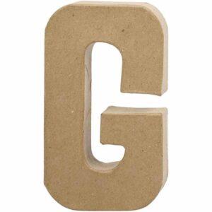 Γράμμα G μικρό papier-mache Yψος 10,5 cm Πάχος 2 cm