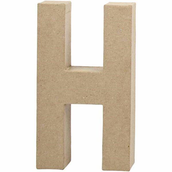 Γράμμα H μικρό papier-mache Yψος 10,5 cm Πάχος 2 cm