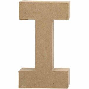 Γράμμα I μεγάλο papier-mache Yψος 20,5 cm Πάχος 2,5 cm