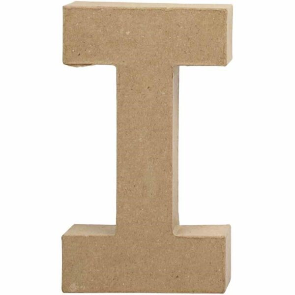 Γράμμα I μικρό papier-mache Yψος 10,5 cm Πάχος 2 cm