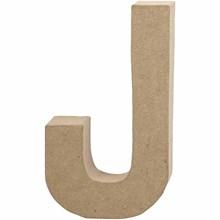 Γράμμα J μικρό papier-mache Yψος 10,5 cm Πάχος 2 cm