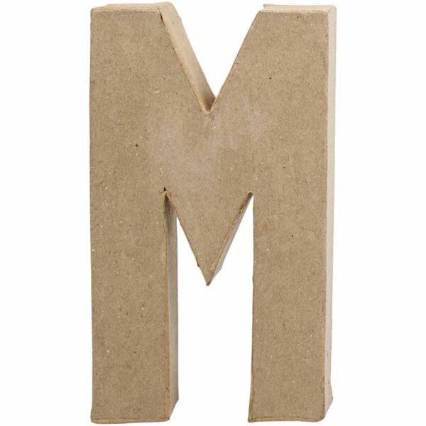 Γράμμα M μεγάλο papier-mache Yψος 20,5 cm Πάχος 2,5 cm