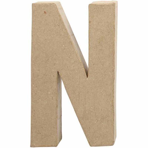 Γράμμα N μεγάλο papier-mache Yψος 20,5 cm Πάχος 2,5 cm