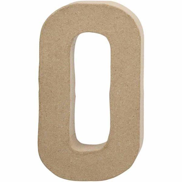 Γράμμα O μεγάλο papier-mache Yψος 20,5 cm Πάχος 2,5 cm