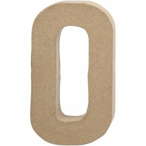 Γράμμα O μικρό papier-mache Yψος 10,5 cm Πάχος 2 cm