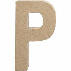 Γράμμα P μικρό papier-mache Yψος 10,5 cm Πάχος 2 cm