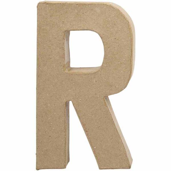 Γράμμα R μικρό papier-mache Yψος 10,5 cm Πάχος 2 cm