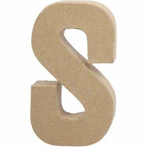 Γράμμα S μεγάλο papier-mache Yψος 20,5 cm Πάχος 2,5 cm