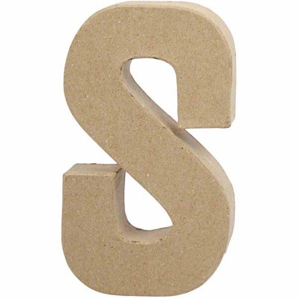 Γράμμα S μικρό papier-mache Yψος 10,5 cm Πάχος 2 cm