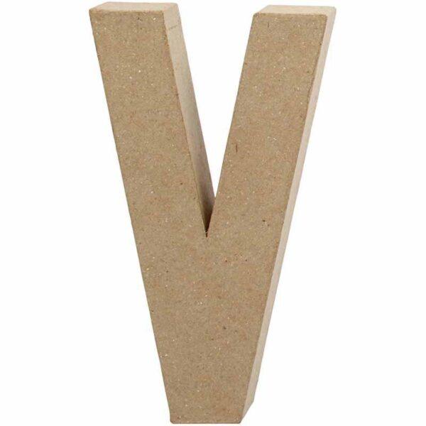 Γράμμα V μεγάλο papier-mache Yψος 20,5 cm Πάχος 2,5 cm