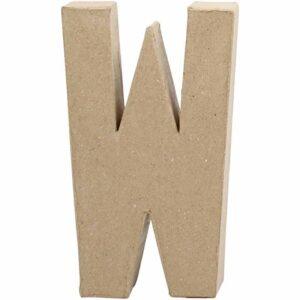 Γράμμα W μικρό papier-mache Yψος 10,5 cm Πάχος 2 cm