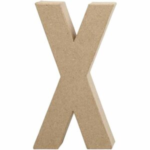 Γράμμα X μεγάλο papier-mache Yψος 20,5 cm Πάχος 2,5 cm