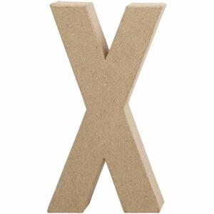 Γράμμα X μικρό papier-mache Yψος 10,5 cm Πάχος 2 cm