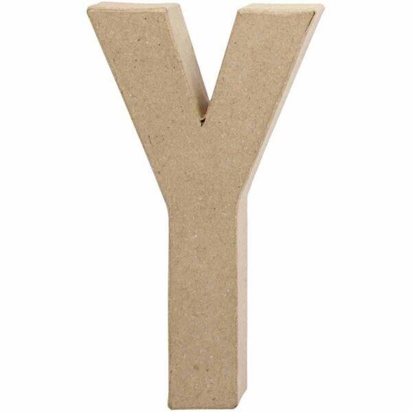 Γράμμα Y μικρό papier-mache Yψος 10,5 cm Πάχος 2 cm