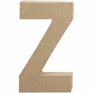 Γράμμα Z μεγάλο papier-mache Yψος 20,5 cm Πάχος 2,5 cm