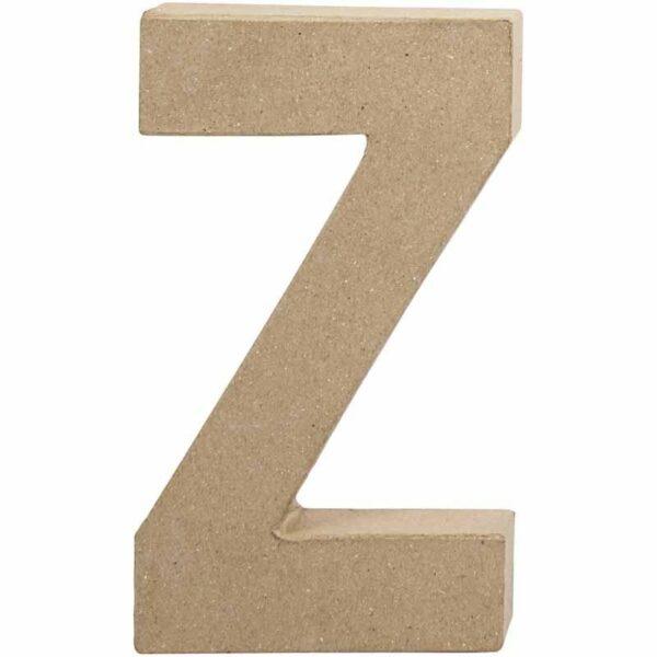 Γράμμα Z μικρό papier-mache Yψος 10,5 cm Πάχος 2 cm