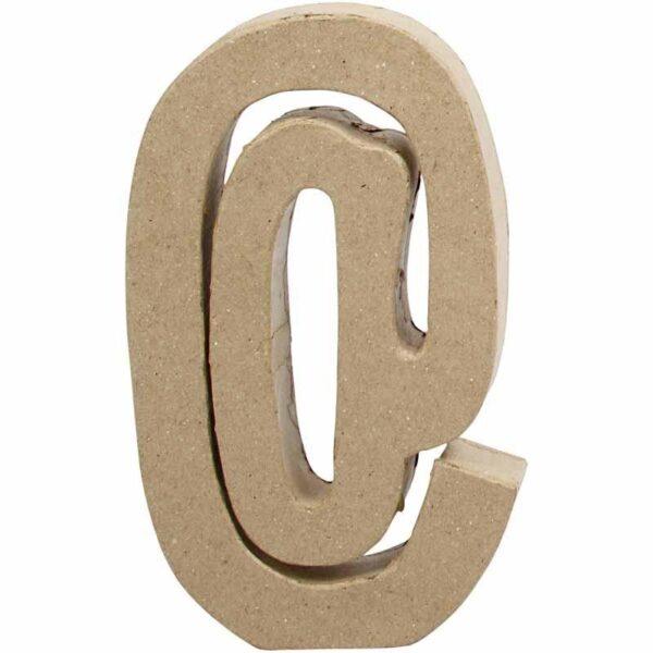 Σύμβολο @ (παπάκι) μικρό papier-mache Yψος 10 cm Πάχος 2 cm
