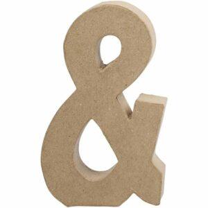 Σύμβολο & (και) μικρό papier-mache Yψος 10 cm Πάχος 2 cm