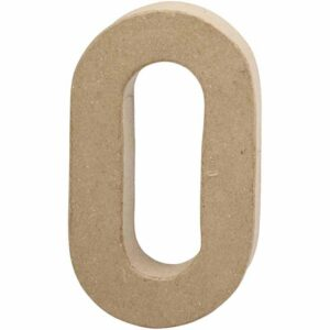 Aριθμός 0 μικρός papier-mache Yψος 10 cm Πάχος 2 cm