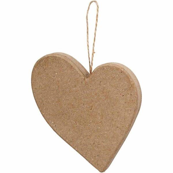 Καρδιά Papier-Mache Ύψος 10,5cm