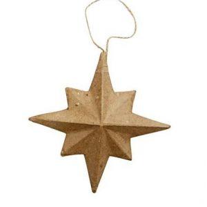 Χριστουγεννιάτικο στολίδι pappier mache αστέρι 8-ακτινο 1τεμ.
