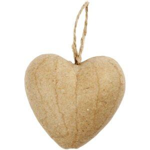 Χριστουγεννιάτικο στολίδι pappier mache καρδιά μεγάλη 1τεμ.