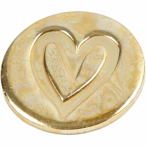 Μεταλλικό Σύμβολο Σφραγίδας Καρδιά 1τεμ.
