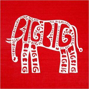 """Stencil """"Elephant"""" 20x22εκ."""