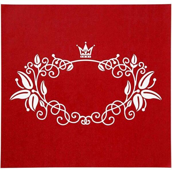 "Stencil ""Flowers & Crown"" 20x22εκ."