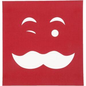 Stencil (Στένσιλ) Πρόσωπο Με Μουστάκι 20x22εκ.