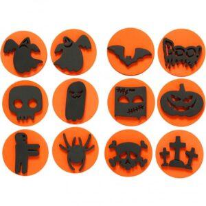 Σφραγίδες αφρολέξ 2πλής όψης Halloween 6τεμ.