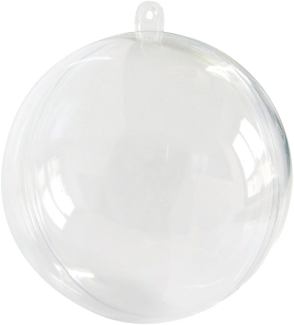 Διάφανη Πλαστική Μπάλα 8cm (20τεμ.)