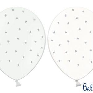Μπαλόνια σε 2 Σχέδια με Αστέρια 6τεμ. 30εκ