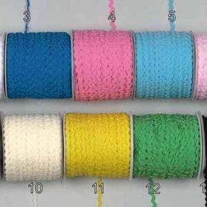 Κορδελάκι zig-zag χρωματιστό 3mm μπομπίνα 100m