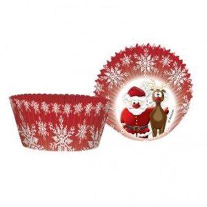 Θήκες για κεκάκια Christmas cupcakes