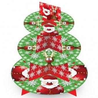 Βάση για κεκάκια Christmas cupcake stand