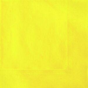 Χαρτοπετσέτες  Φαγητού Soft Yellow μονόχρωμες 33x33cm 20τεμ.