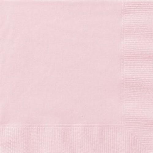 Χαρτοπετσέτες φαγητού 33x33εκ. ροζ μονόχρωμες 20τεμ.