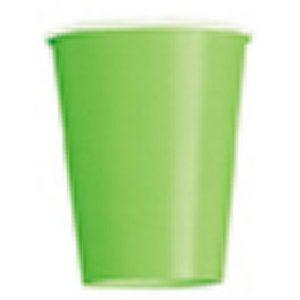 Ποτήρια χάρτινα λαχανί 270ml μονόχρωμα 14τεμ.