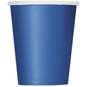 Ποτήρια χάρτινα μπλε 270ml μονόχρωμα 14τεμ.
