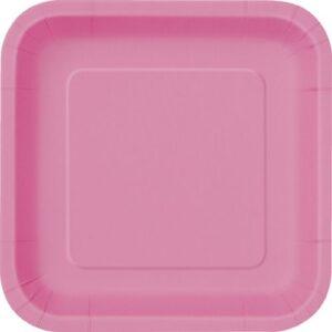 Πιάτα γλυκού τετράγωνα 18εκ. φούξια μονόχρωμα 16τεμ.