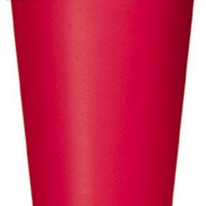 Ποτήρια χάρτινα κόκκινα 270ml μονόχρωμα 14τεμ.