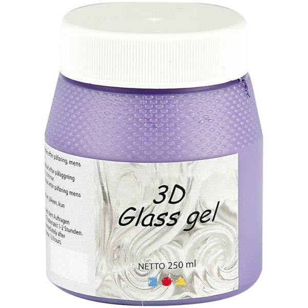Τζελ Γυαλιού, 3D Glass Gel Πράσινο Ανοιχτό 250 ml