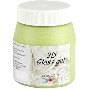 Τζελ Γυαλιού, 3D Glass Gel Ασημί 250 ml