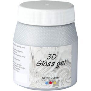 Τζελ Γυαλιού, 3D Glass Gel Ροζ 250 ml