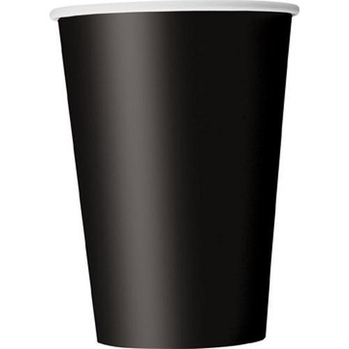 Ποτήρια χάρτινα μαύρα 270ml μονόχρωμα 14τεμ.