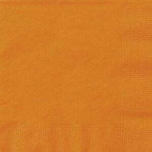Χαρτοπετσέτες φαγητού 33x33εκ. πορτοκαλί μονόχρωμες 20τεμ.