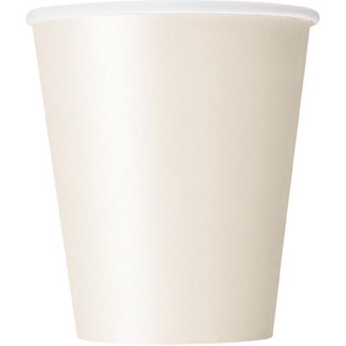 Ποτήρια χάρτινα ιβουάρ 270ml μονόχρωμα 14τεμ.