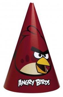 Χάρτινα καπελάκια Angry Birds 8τεμ.