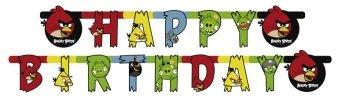 Banner Happy Birthday Angry Birds 1,8μ.